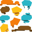 Set of abstract origami speech bubble vector background. — Stock Vector