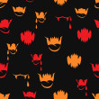 Vector seamless pattern with sharp teeth. Halloween background. - Stock Vector