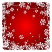Decoratieve vector merry christmas achtergrond met sneeuwvlokken. — Stockvector