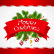Royalty-Free Stock Vector Image: Merry Christmas vector background with glossy balls.
