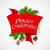 Merry christmas vektor bakgrund med blanka bollar. — Stockvektor