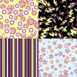 Vector kawaii patterns of Halloween related objects. - Imagen vectorial