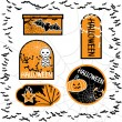Royalty-Free Stock Vector Image: Halloween sale tags isolated. Vector bubbles for you design.