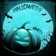 EPS 10 Halloween background with moon, bats and pumpkin. - Stock vektor
