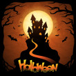 EPS 10 Halloween background with moon and bats - 