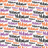 Happy Halloween vector seamless pattern. Stylish background. — Stock Vector