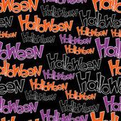 Happy Halloween vector seamless pattern. Stylish background. — Stock Vector