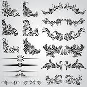 Calligraphic design elements and page decoration vintage frames — Stock Vector