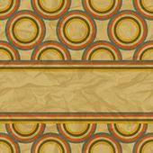 Eps10 ретро бесшовный фон на винтаж старой бумаге. — Cтоковый вектор