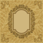Retro background with vintage calligraphic ornate frame — Stock Vector