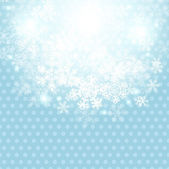 Christmas winter background with snowflake. Vector illustration. — Stock Vector