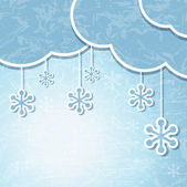 Eps 10 Boże Narodzenie retro tło w stylu aplikacji. — Wektor stockowy