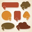 Textured speech bubbles and stickers set in retro style. — Image vectorielle