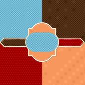 シームレスな抽象的なレトロ パターン。スタイリッシュな幾何学的な背景. — ストックベクタ