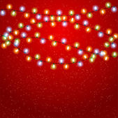 Eps 10 Christmas background with luminous garland. — Vector de stock
