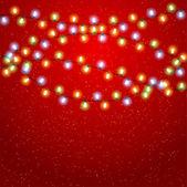 Eps 10 navidad fondo con guirnalda luminosa. — Vector de stock