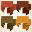 Textured speech bubbles and stickers set in retro style. — Векторная иллюстрация