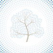 Winter tree season abstract background. Vector illustration. — 图库矢量图片