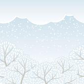Зимние деревья бесшовные (сезон абстрактный фон). — Cтоковый вектор