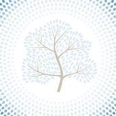 冬天树季节抽象背景。矢量插画. — 图库矢量图片