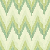 Zigzag pattern in green color. Seamless texture. — Stock Vector