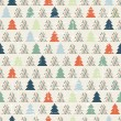 Stock Vector: Christmas and Holidays seamless pattern with tree.
