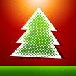 Christmas and New year holidays vector card with tree. — Stock Vector