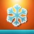 Christmas and New year holidays vector card with snowflake. — Stockvektor