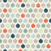Christmas and Holidays seamless pattern with balls. — Stock Vector