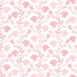 Floral seamless pattern with rose in pastel tones. - Stock Vector