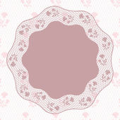Vintage lace background, ornamental flowers. Vector card. — Stock Vector