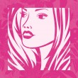 Abstract girl portrait. Beautiful woman vector silhouette. — Vektorgrafik