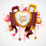 Valentine's Day vector background. Origami speech bubble. — Stock Vector #16263565