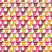 Valentine vector seamless pattern of glossy bows. — Stock Vector