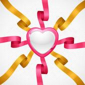 Sevgililer günü vektör arka plan. hediye kartı ve el ilanı. — Stok Vektör