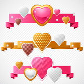 Valentine's Day vector background. Origami speech bubble. — Vettoriale Stock