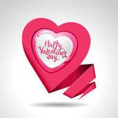 Valentine's Day vector background. Origami speech bubble. — Stock Vector