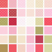 Seamless abstract retro pattern. Set of 36 polka dots textures. — Stock Vector