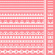Royalty-Free Stock Vector: Set of hand drawn lace paper punch borders.