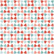 Vector seamless pattern of Valentine's Day in retro style. - Stock Vector