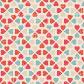 Vector seamless pattern of Valentine's Day in retro style. — ストックベクタ