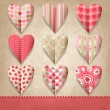 Scrap template of vintage design with hearts. — Stockvektor