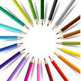 Achtergrond met kleurpotloden. conceptuele vectorillustratie. — Stockvector