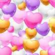 Valentine&#039;s Day vector seamless pattern. Eps 10 background. - Stockvektor