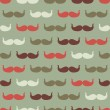 Vintage seamless pattern with mustache, vector illustration. — Stock Vector
