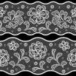 Seamless lace pattern, flower vintage vector background. — Stock Vector #17593621