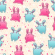 Seamless kawaii child pattern with cute doodles. — Векторная иллюстрация