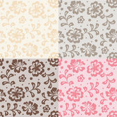 Seamless lace pattern, flower vintage vector background. — Stock Vector