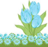 Design of vector tulips. (Flower background) — Vector de stock