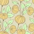 Vector illustration of pumpkins (Seamless Pattern) — Stock vektor #17641397